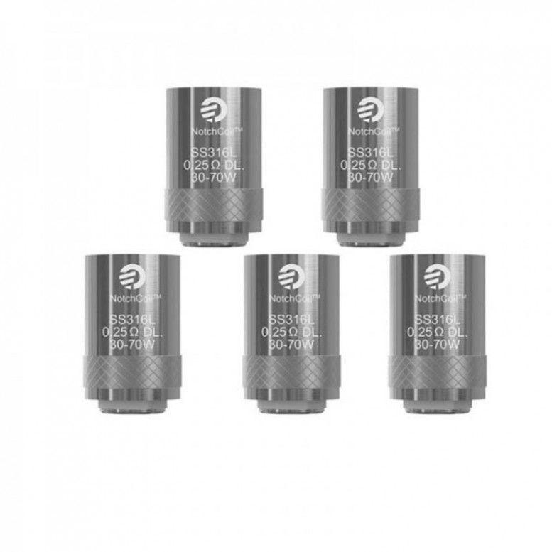 Résistances - Notch Coil - 0,25/0,2/0,5/0,6/Clapton BF 1,5/SS316 1,0 Ohm